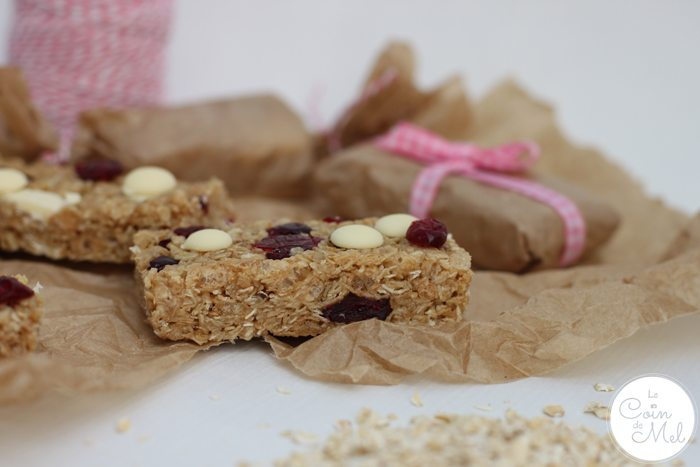 No Bake Cranberry and White Chocolate Cereal Bars are Ideal for Lunchboxes