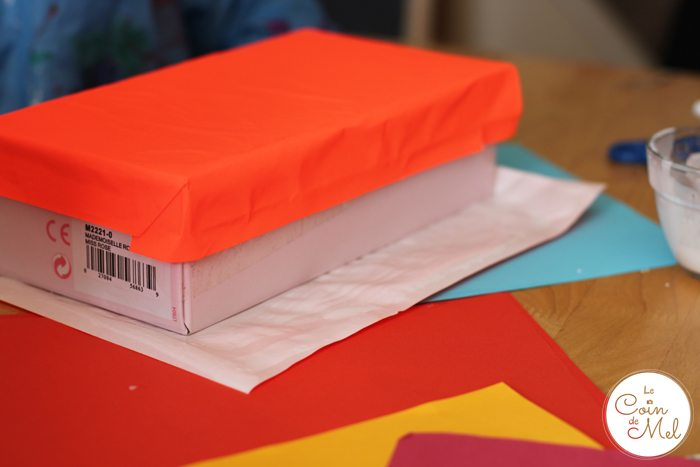 Colourful Paper on Boxes
