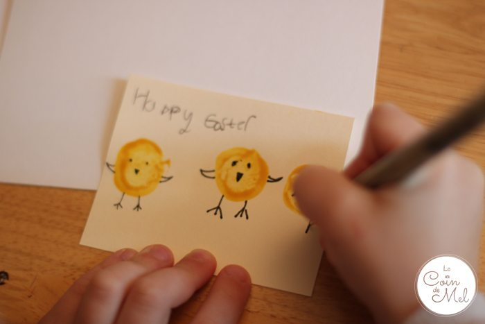 Homemade Easter Cards - drawing