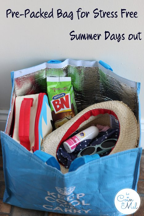 Pre-Packed Bag for Stress Free Summer Days out