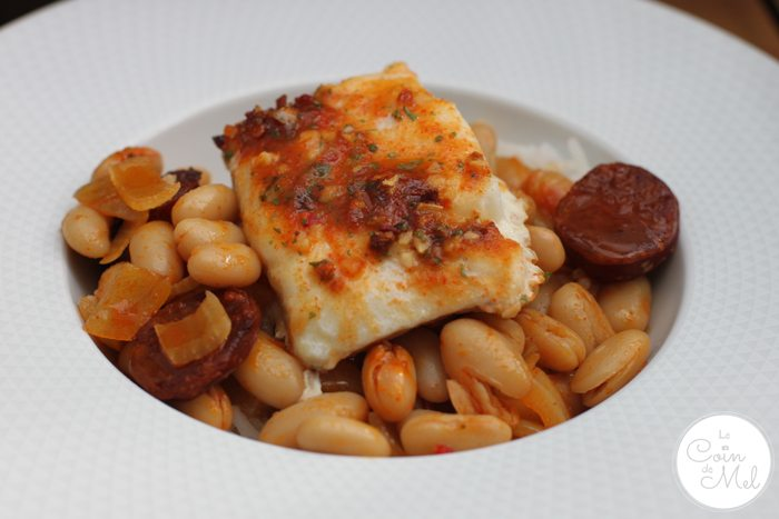 Baked Cod in a Chorizo Broth