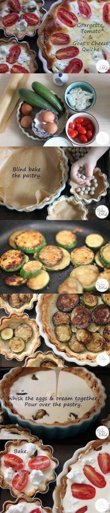 Courgette, Tomato & Goat's Cheese Quiche - A Visual Summary