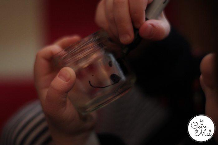 Beanie Drawing on Jars