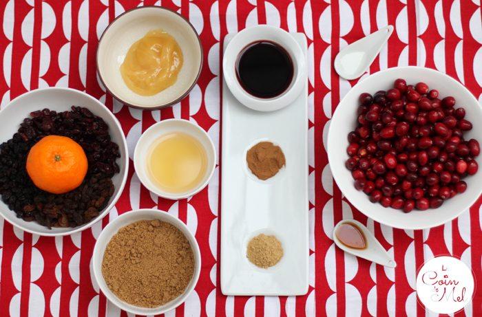 Cranberry Mincemeat - Ingredients