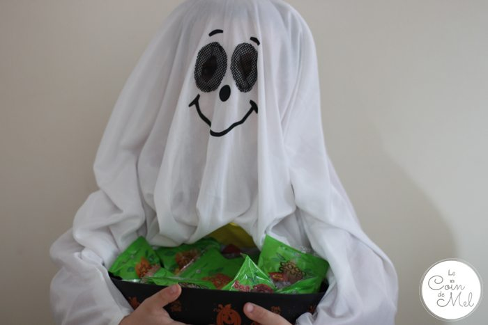 Friendly Ghost Ready for Trick-or-Treaters with Free From Sweets