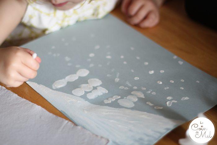 Thumbprint Art - Snowmen - Cotton Bud Snowflakes