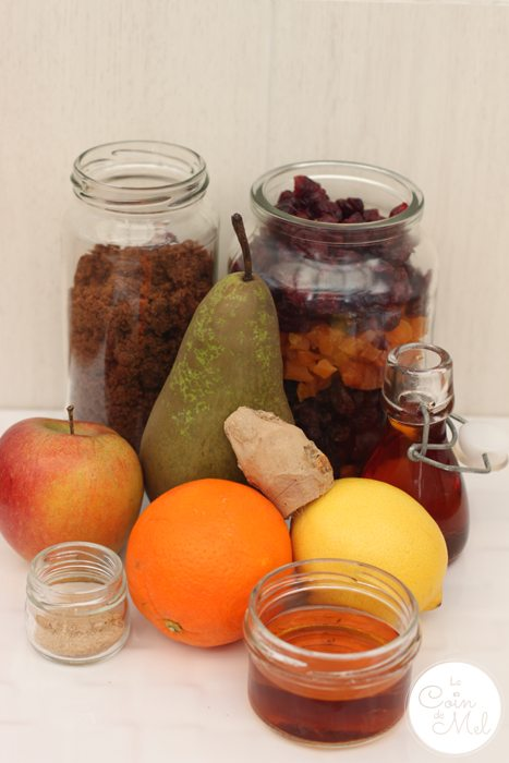 Fruity Mincemeat - Ingredients