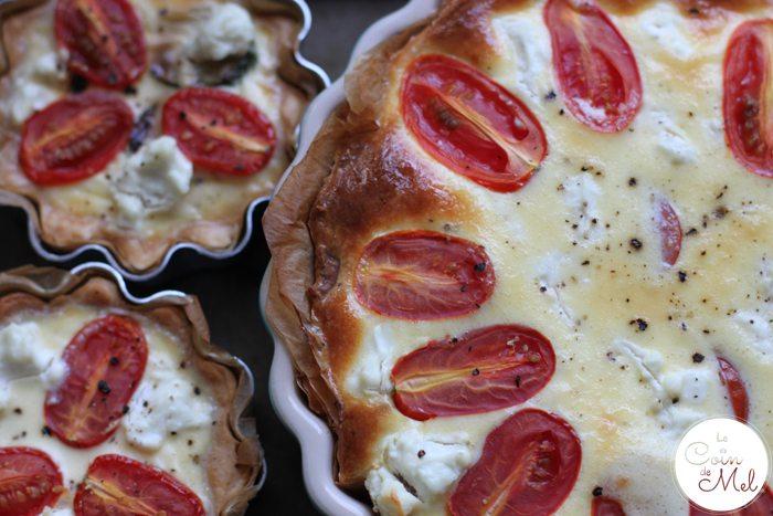 Courgette, Tomato & Goat's Cheese Quiche