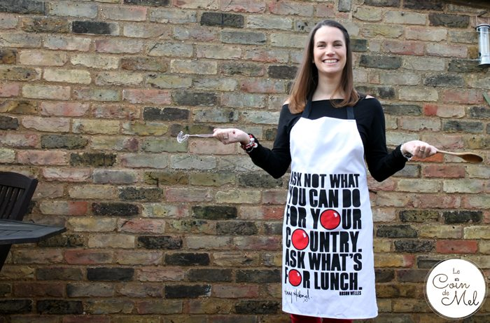 Henry Holland Apron for HomeSense - The Great Comic Relief Bake Off for Red Nose Day