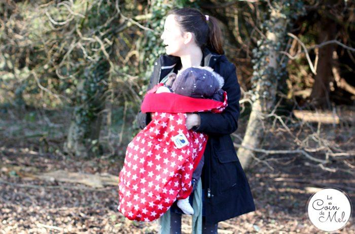 BundleBean GO as a Coat Extension when Babywearing