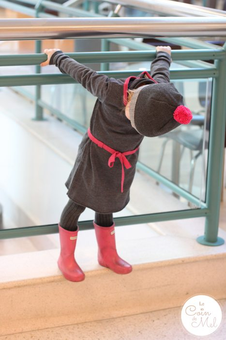 Les Petites Choses French brand for children with Tendre Deal - Beanie staring at her Feet