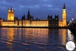 London - The Houses of Parliament at Dusk
