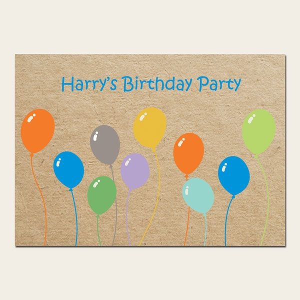 The Card Gallery Template - Colourful-Balloons-Birthday