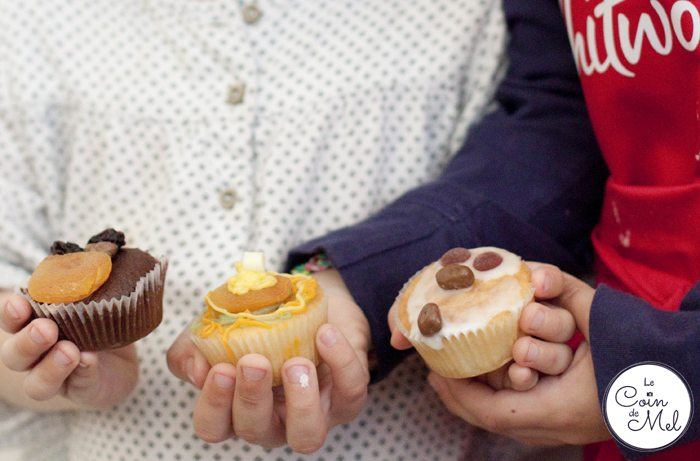 Proud to show the cupcakes they decorated
