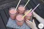 Strawberry Smoothies in Ball Jars