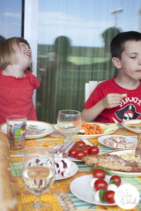 Happy Kids Having Lunch