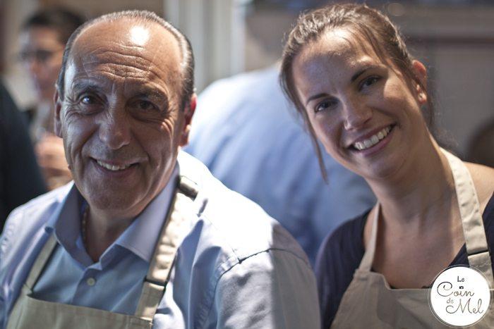 Mel with Chef Gennaro Contaldo