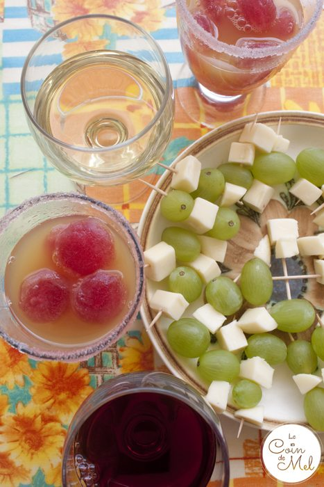 Muscat de Rivesaltes for the Adults, Mocktails for the Children