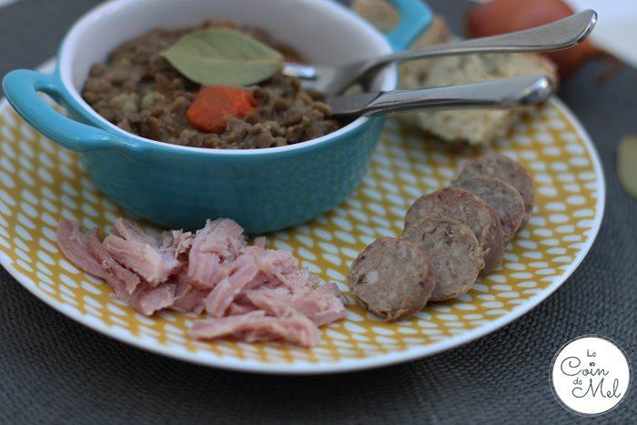 Petit Salé aux Lentilles - Green Lentil Stew
