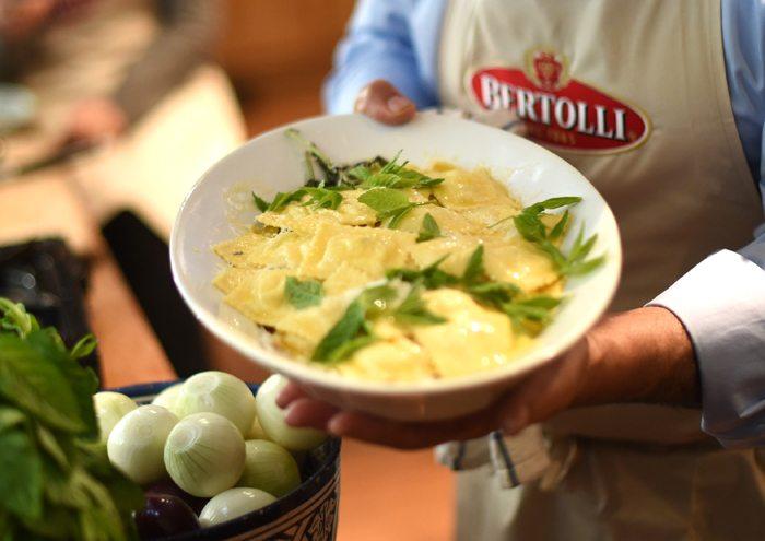 ricotta and lemon ravioli
