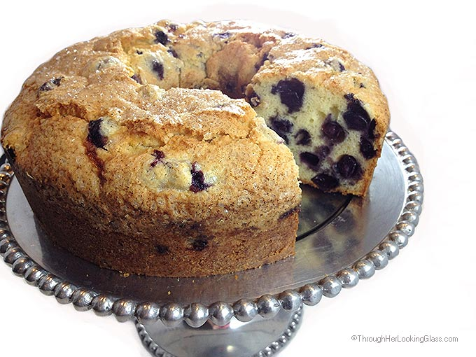 Blueberry Pound Cake by Alllie at 'Through Her Looking Glass'