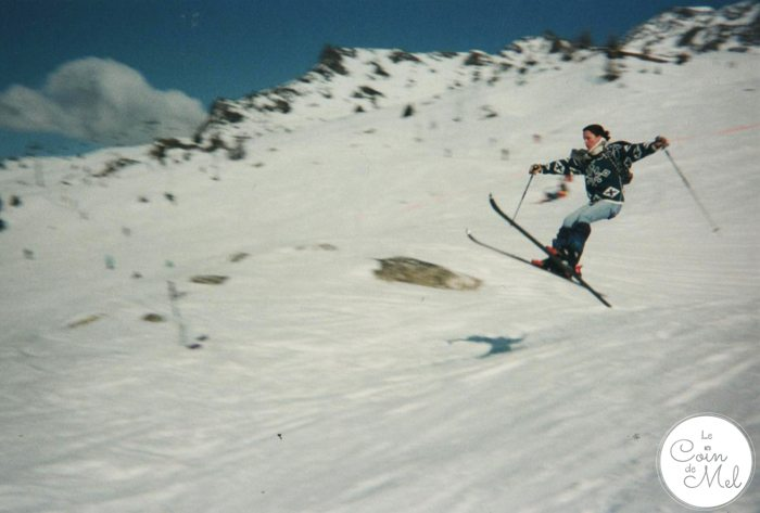 Me Skiing with Jeans and Jumper on, with the worst Technique ever