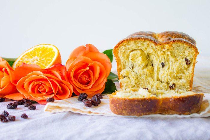 Cinnamon Orange Raisin Brioche by Mon Petit Four