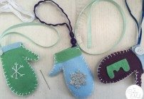 Easy Christmas Crafts: Make a Personalised Mitten Ornament