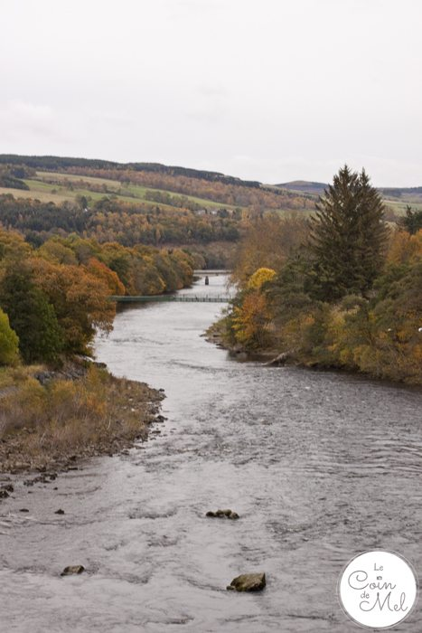 Pitlochry - the ideal place to stop on your way to the Scottish Highlands - River Tummel in Autumn Fall