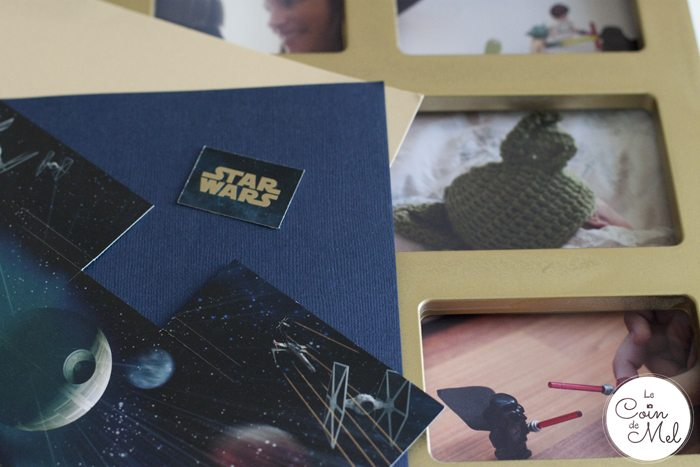 The Perfect DIY Present for a Star Wars Fan - Using bits of the presentation pack for the frame
