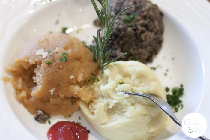 Victoria's Restaurant – Pitlochry - Haggis, Neeps 'n' Tatties, McSween of Edinburgh's award-winning haggis with creamy mashed potatoes and turnips