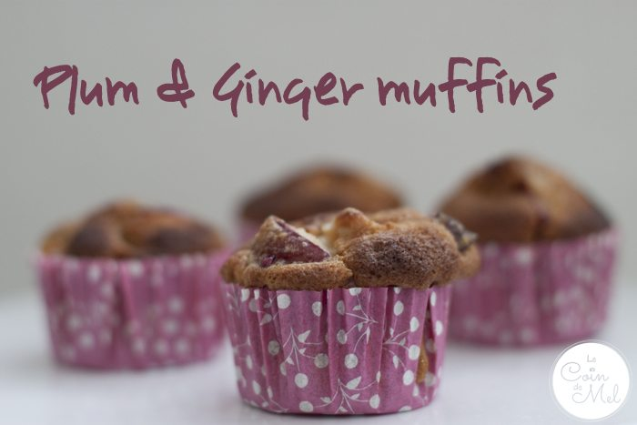 Plum and Ginger Muffins by Susan - Mess in the Ness