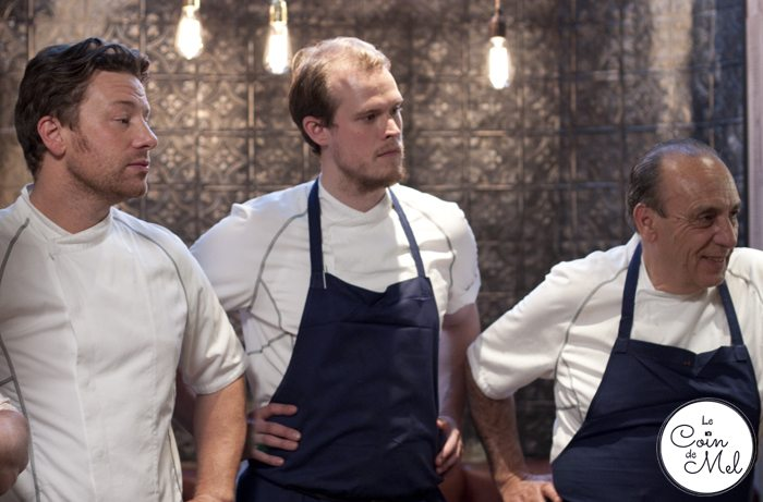Jamie & Jimmy's Friday Night Feast, Series 3 Episode 2 – For the Love of Langoustines! Jamie, Robin, Gennaro