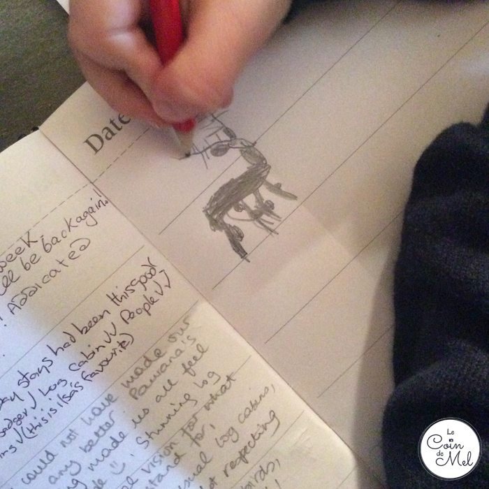 Holidays of a Lifetime at Eagle Brae - Beanie Drawing in the Guest Book