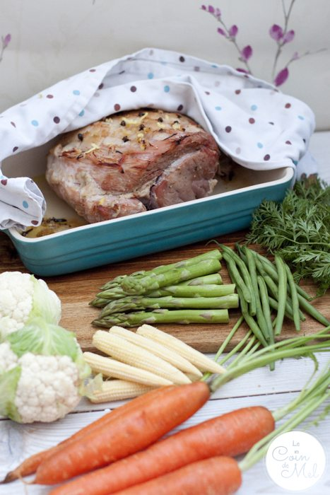 An Easy Way to Cook Gammon to Perfection & a Honey Glaze for Roasting - veg
