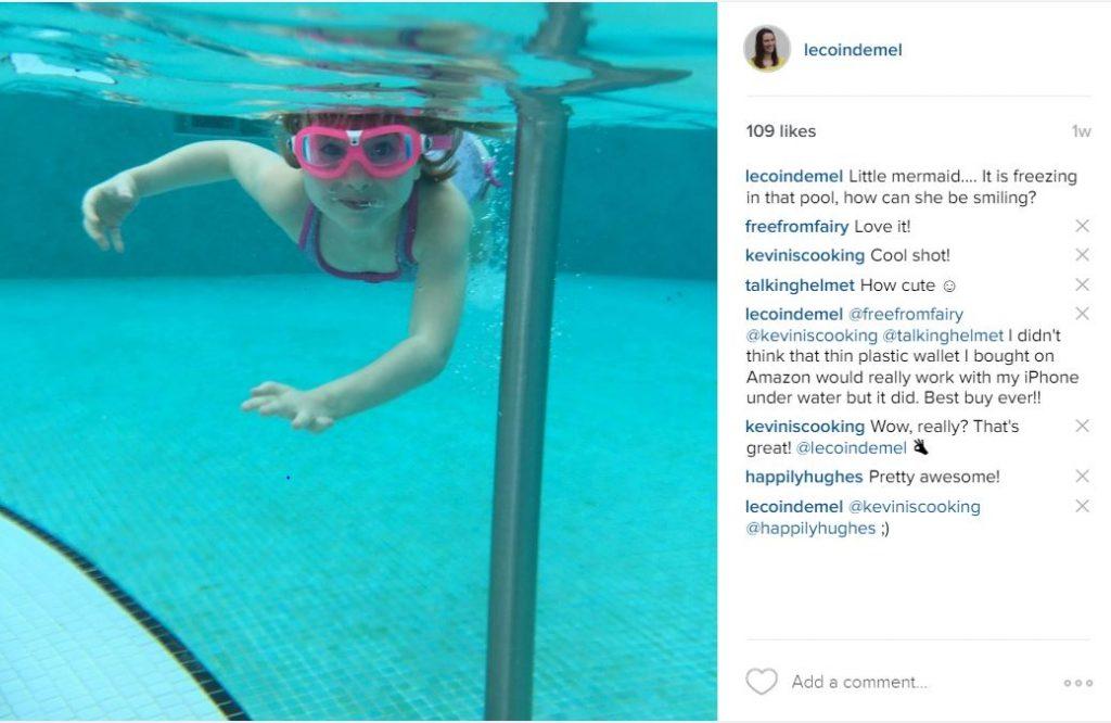 Instagram under water