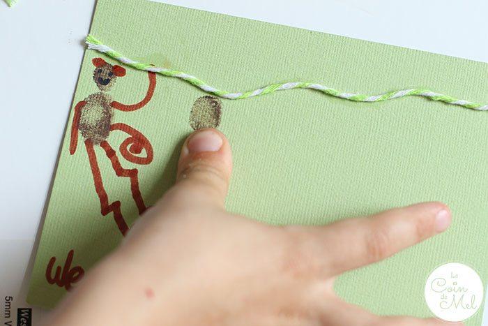 10 Minute Crafts - Make a Monkey Fingerprint Card for Father's Day - Fingerprints
