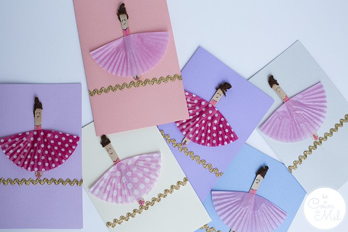 10 Minute Crafts- Ballerina Cards-quick&easy