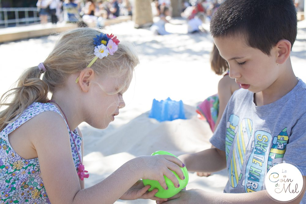 The Southbank Centre- Ideal Place for Kids a Hot Day - Fun in the sand