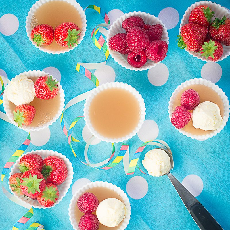 Charlotte's fruit juice jelly - an allergy-friendly jelly that's perfect for serving at parties and buffets