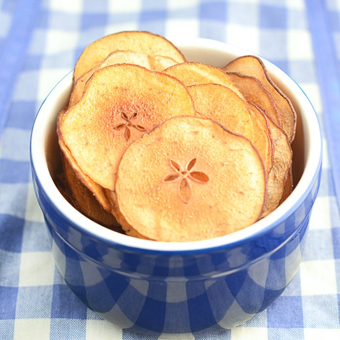 Have you thought about making pear crisps? They're such a healthy free from treat