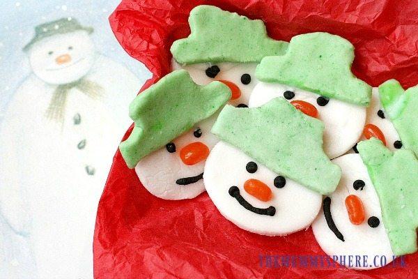 Peppermint snowmen - a delicious, allergy-friendly buffet favourite