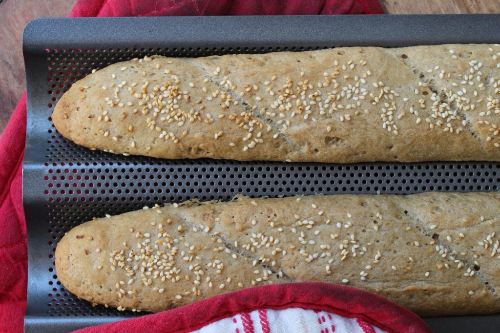 Allergy-friendly recipes - wholegrain baguettes