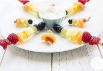 Quick & Easy Vegan Rainbow Snacks: Fruit & Veg Skewers with Dips