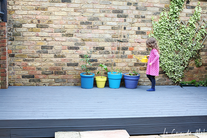 A patio revamp can be achieved with a tidy and a bit of a clean and a paint: no need to go over the top and spend a fortune!