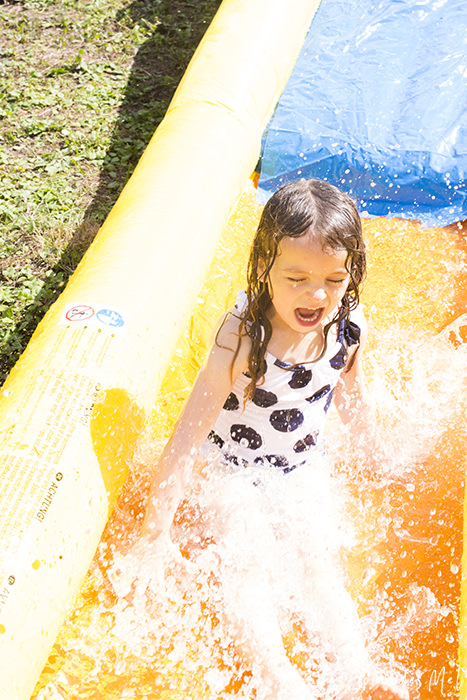 Our Duplay Happy Hop Water Slide was the talk of the summer! It is huge, can be used wet or dry and provides children aged 3 to 10 with hours of fun.
