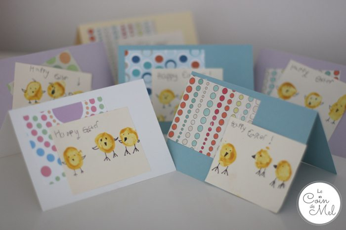 Homemade Easter Cards - finished cards