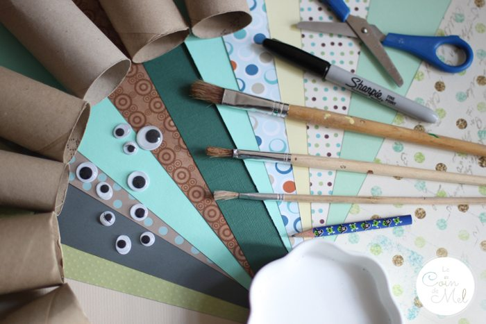Toilet Paper Roll Bunnies - Materials