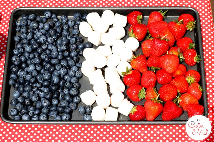 French Party - The Food - Fruit Flag