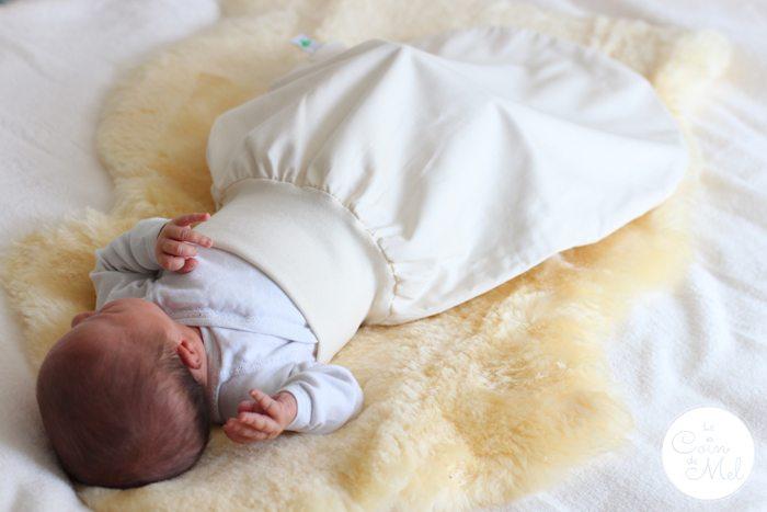 The Little Green Sheep Newborn Baby Pouch